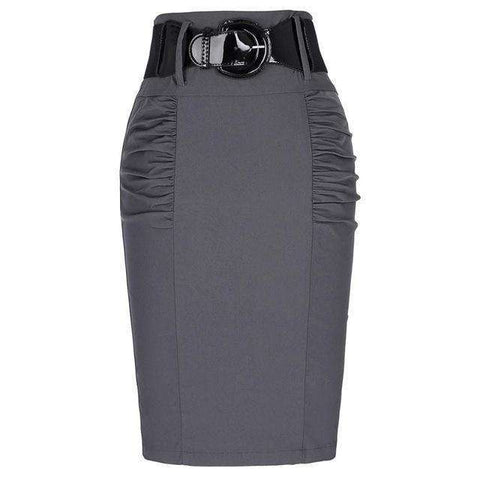 Women's Skirts With High Belt