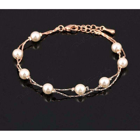 Unique Vintage Simulated Pearl Bead Bracelet
