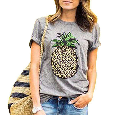 Womens Cute Pineapple T-shirt