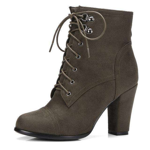 Women's Beautiful Lace Side Zipper Ankle Boots