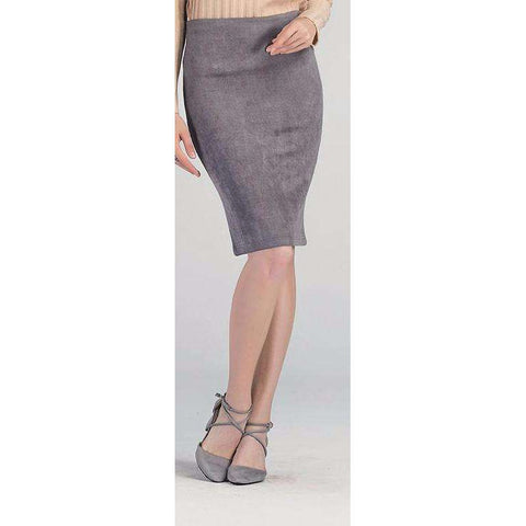 Women's Suede Knee Length Skirts