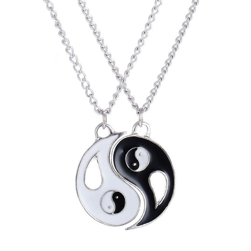 Yin and yang chain pendant necklace for best friends and couples yin and yang chain pendant necklace for best friends and couples mozeypictures Choice Image