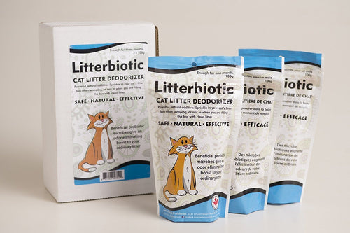 Litterbiotic All Natural Cat Litter Deodorizer (3 month supply)