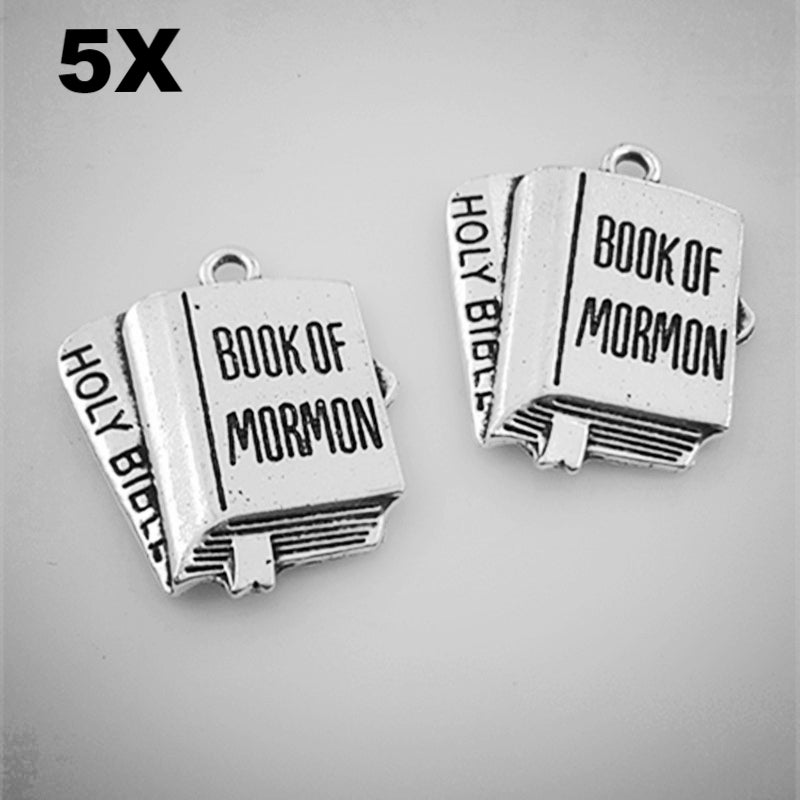 Book of Mormon Silver Charm 5 pcs/lot