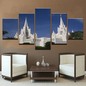 San Diego Temple 5 pieces Paintings