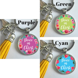 Peace in Christ Cute Keychain