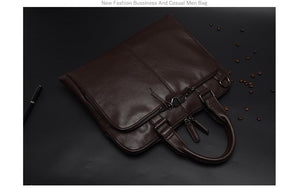 Premium Leather Messenger Bag - All-in-One for Men