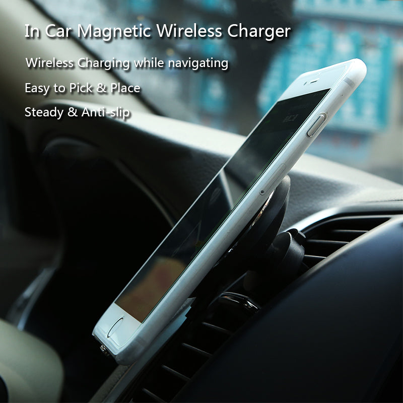 360 degree Magnetic Car Wireless Charger for iPhone X
