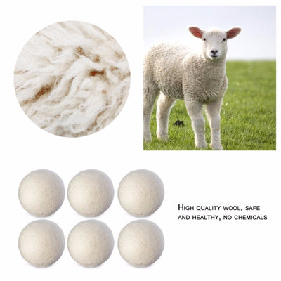 Wool Dryer Balls (6PCS/SET)