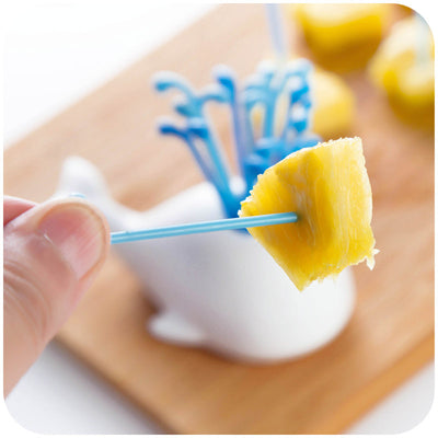 Appetizer Skewers with Whale Holder