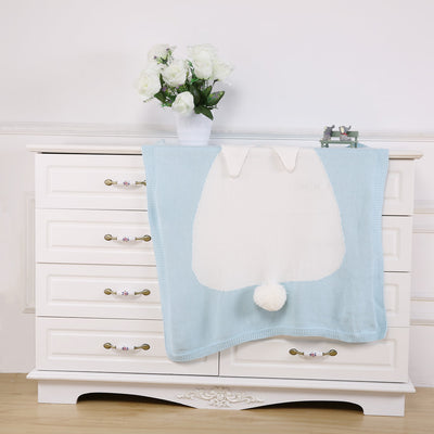 Premium Cotton Knit Bunny Blankets
