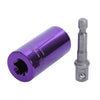 2x Pieces Multi-Function Ratchet Socket and Power Drill Adapter