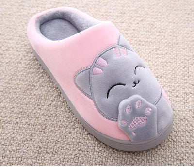Purrfect Kitty Furry Slippers