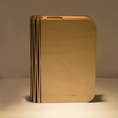 Rechargeable LED Folding Wooden Book Lamp