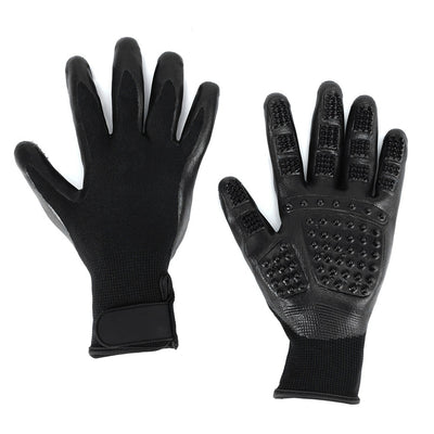 Pet Grooming Gloves For Cats, Dogs & Horses (Pair)