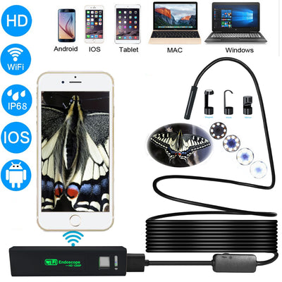 WIFI HD 1200P Endoscope Camera Waterproof for iOS and Android