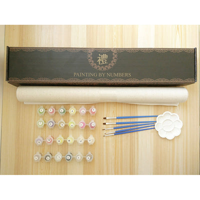 Japanese Emperors' Garden Modern DIY Paint-By-Number Kit