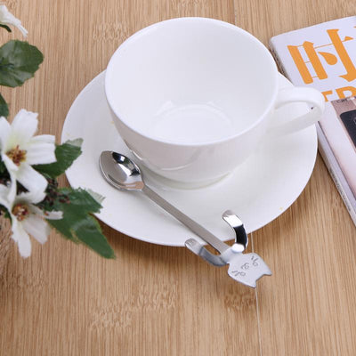 Stainless Steel Coffee & Tea Mini Cat Spoon