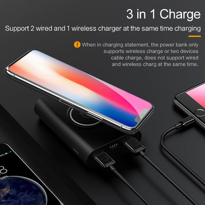 2-in-1 Mini Wireless Power Bank 8000mAh for iPhone X, 8 and 8+