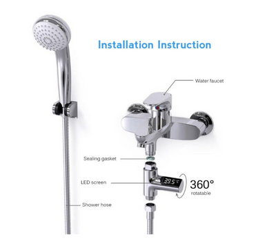 Digital Shower Head Water Thermometer
