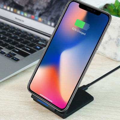 Stand-Up Wireless Fast Charger for iPhone X / 8 / 8 Plus