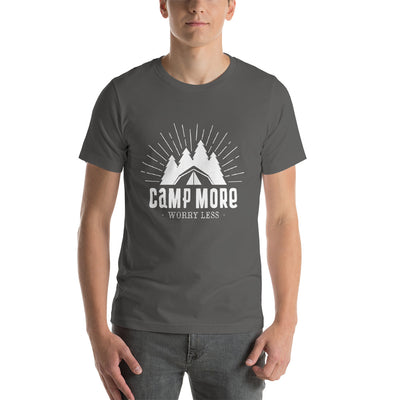 Camp More, Worry Less - Short-Sleeve Men T-Shirt
