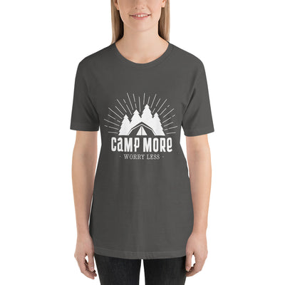 Camp More, Worry Less - Short-Sleeve Women T-Shirt