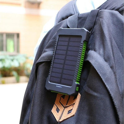 Waterproof Solar Power Bank 10000mah Dual USB
