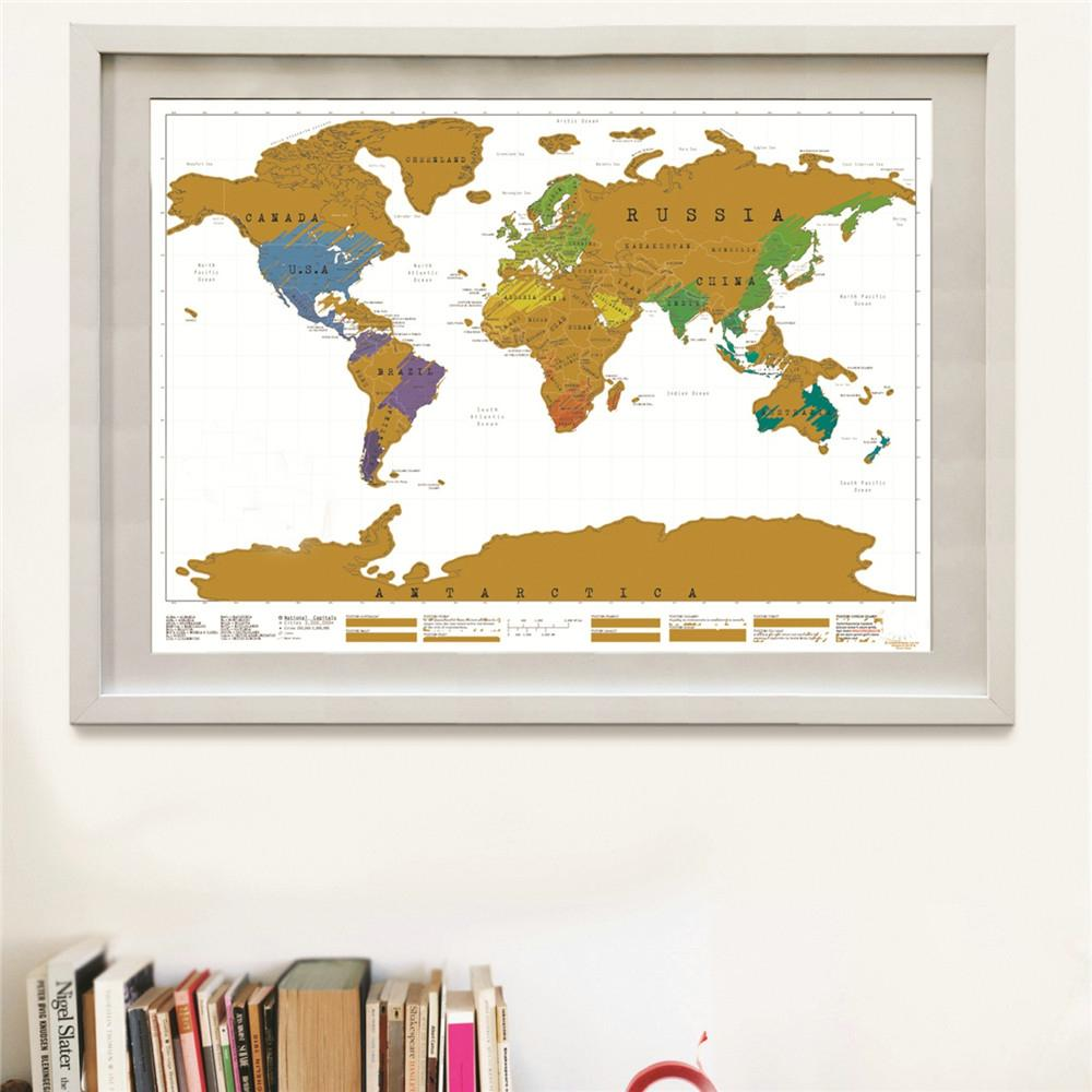 Deluxe travel scratch world map gold black or white anza deluxe travel scratch world map gold black or white gumiabroncs Gallery