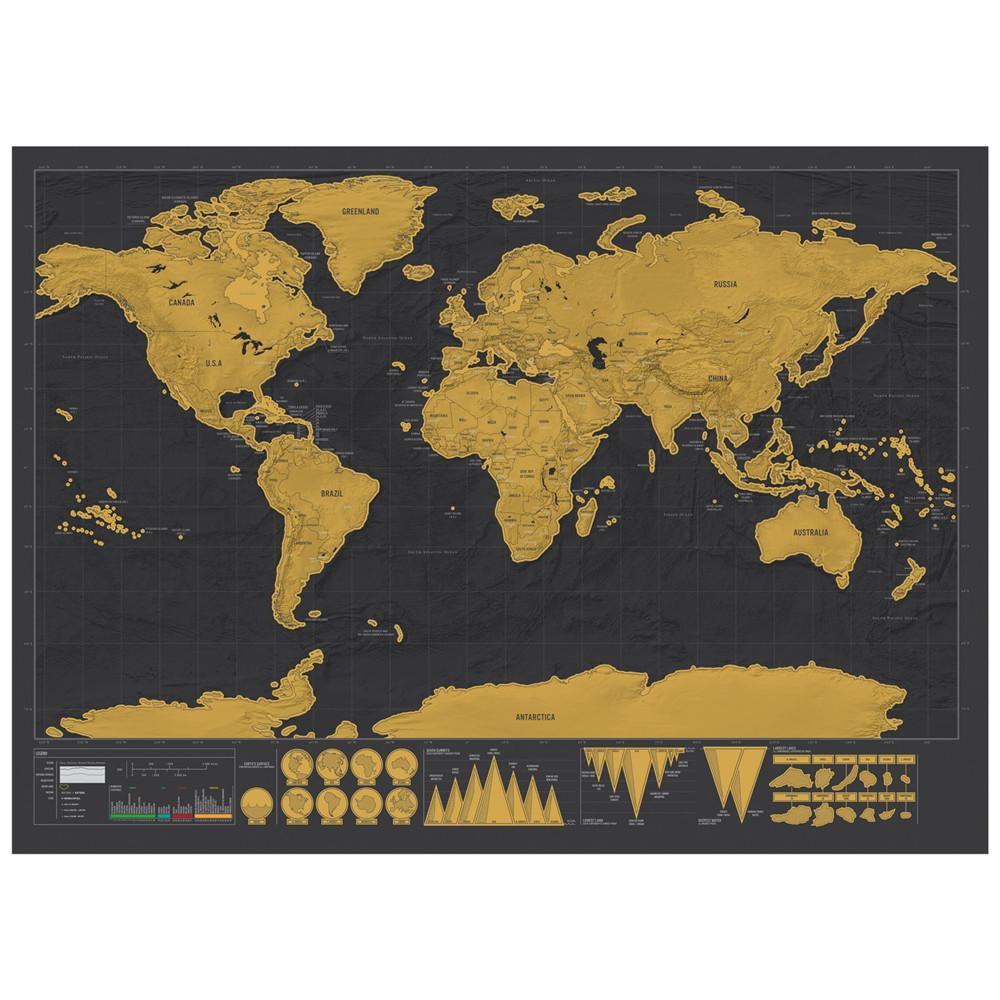Deluxe travel scratch world map gold black or white anza deluxe travel scratch world map gold black or white gumiabroncs Images