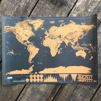 Deluxe travel scratch world map gold black or white anza deluxe travel scratch world map gold black or white gumiabroncs Image collections