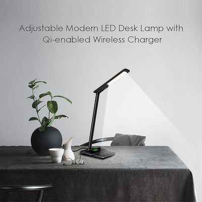 Adjustable Wireless Charging Desk Lamp for iPhone X, 8 and 8 plus