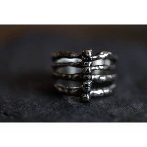 Sterling Silver Rib Cage Ring