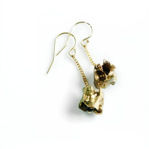 Bronze Snake Vertebrae Earrings