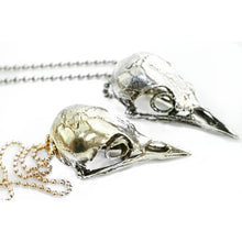 Yellow Brass Bird Skull Pendant & Amulet