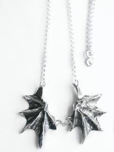 Sterling Silver Bat Wings, Fantasy Jewelry, Goth Jewelry