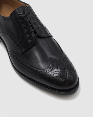 Praga - Goodyear Welted Leather Shoes - Black