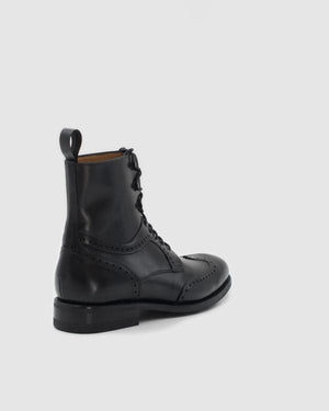 Berlin - Goodyear Welted Leather Boots - Black