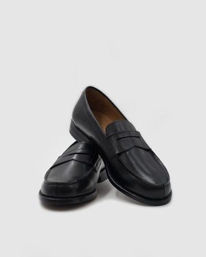 Milan - Goodyear Welted Penny Loafer - Black Leather