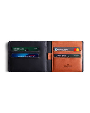 HARBER LONDON · BUSINESS WALLET WITH RFID PROTECTION · GREY/TAN