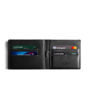 HARBER LONDON · BUSINESS WALLET WITH RFID PROTECTION · BLACK/BLACK