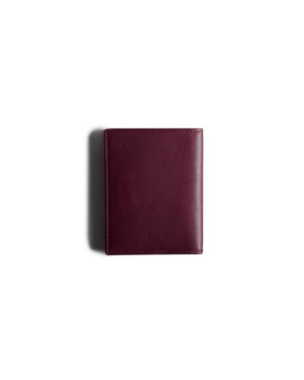 HARBER LONDON · CARD WALLET WITH RFID PROTECTION · BURGUNDY