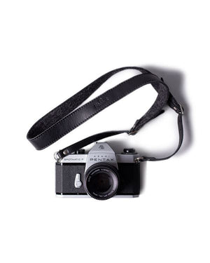 HARBER LONDON · ADJUSTABLE LEATHER & FELT CAMERA STRAP · BLACK
