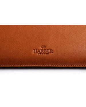HARBER LONDON · SLIM LEATHER MACBOOK SLEEVE CASE · TAN