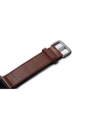 HARBER LONDON · APPLE WATCH STRAP CLASSIC LEATHER · DEEP BROWN
