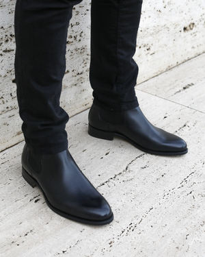 NYC - MTO Chelsea Leather Boots - Black
