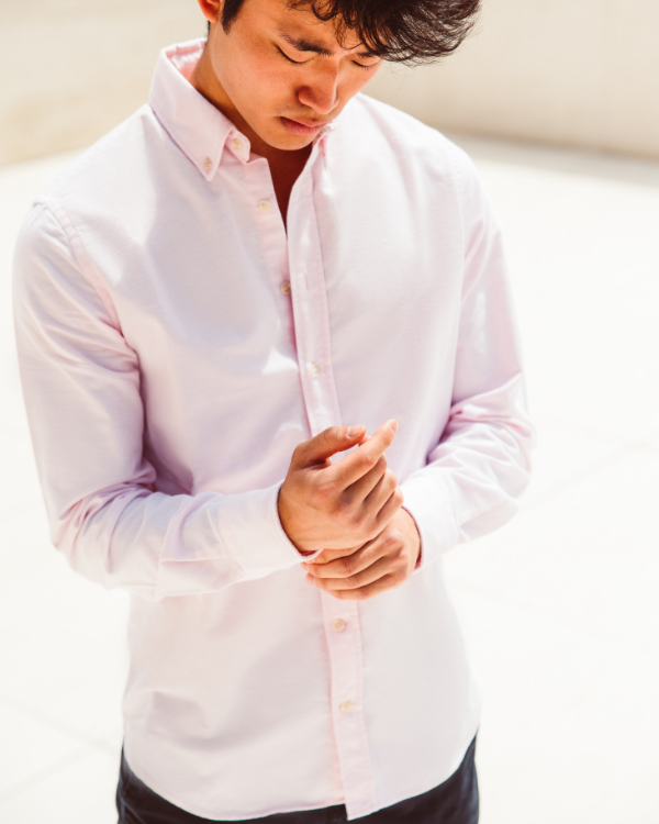 Baltimore - Men Oxford Shirt - Light Pink