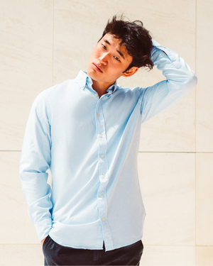 Baltimore - Men Oxford Shirt - Light Blue