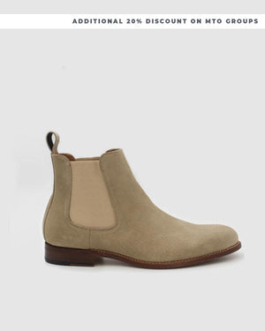 NYC - MTO Chelsea Suede Boots - Taupe