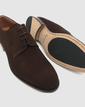 Boston - Derby Suede Shoes - Moka
